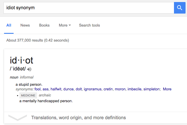 idiot synonym
