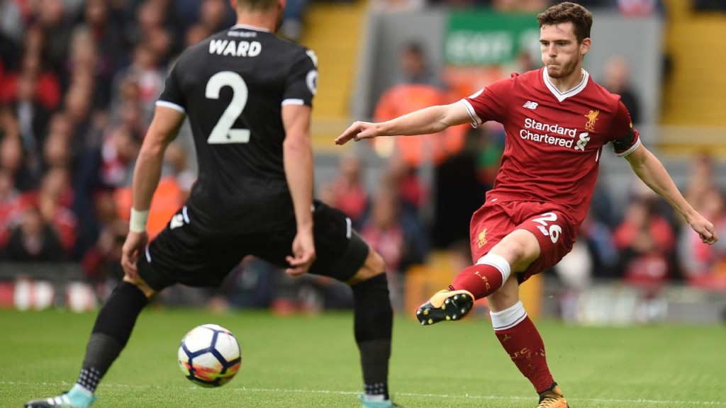 Andrew Robertson marked his Liverpool Premier League debut with a solid display against Crystal Palace.